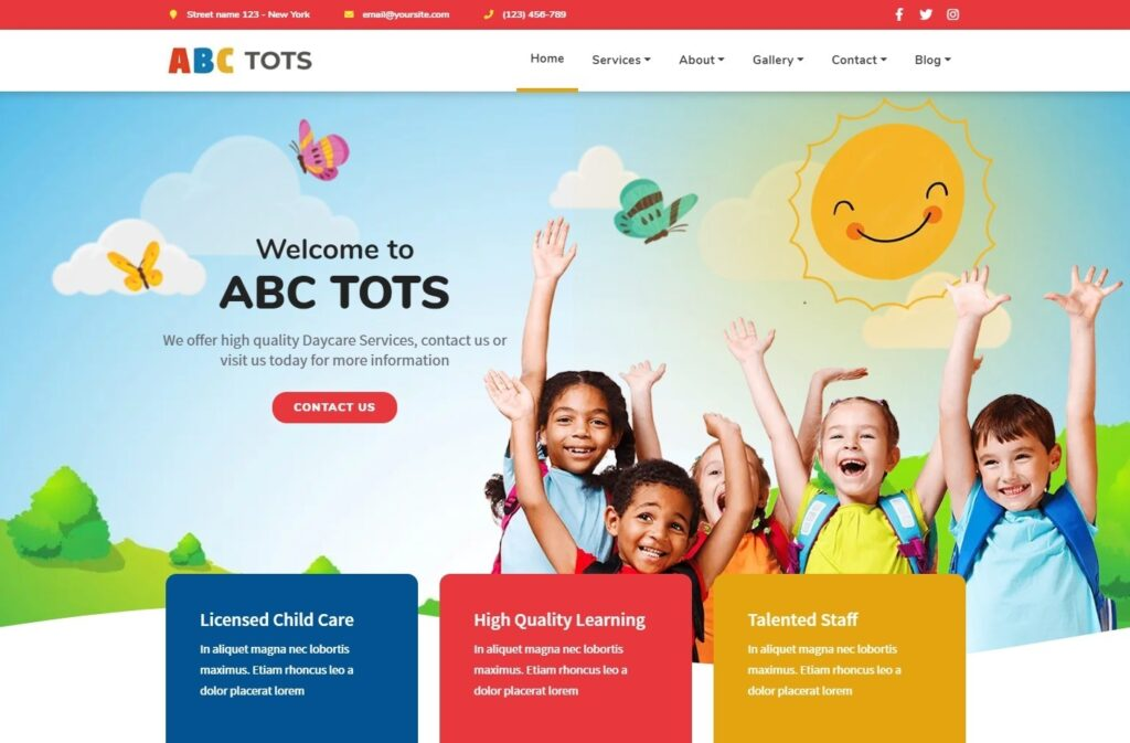 ABC Tots Childcare and Daycare Center Theme