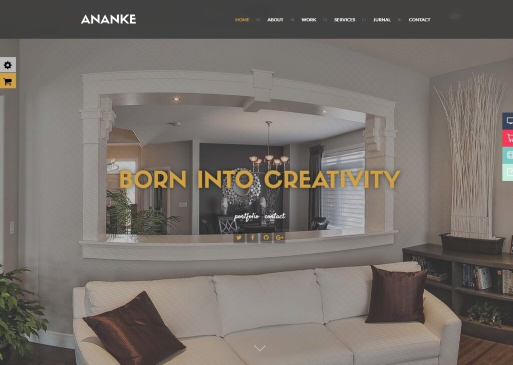 Ananke Video Background and Parallax Scrolling Multimedia Theme