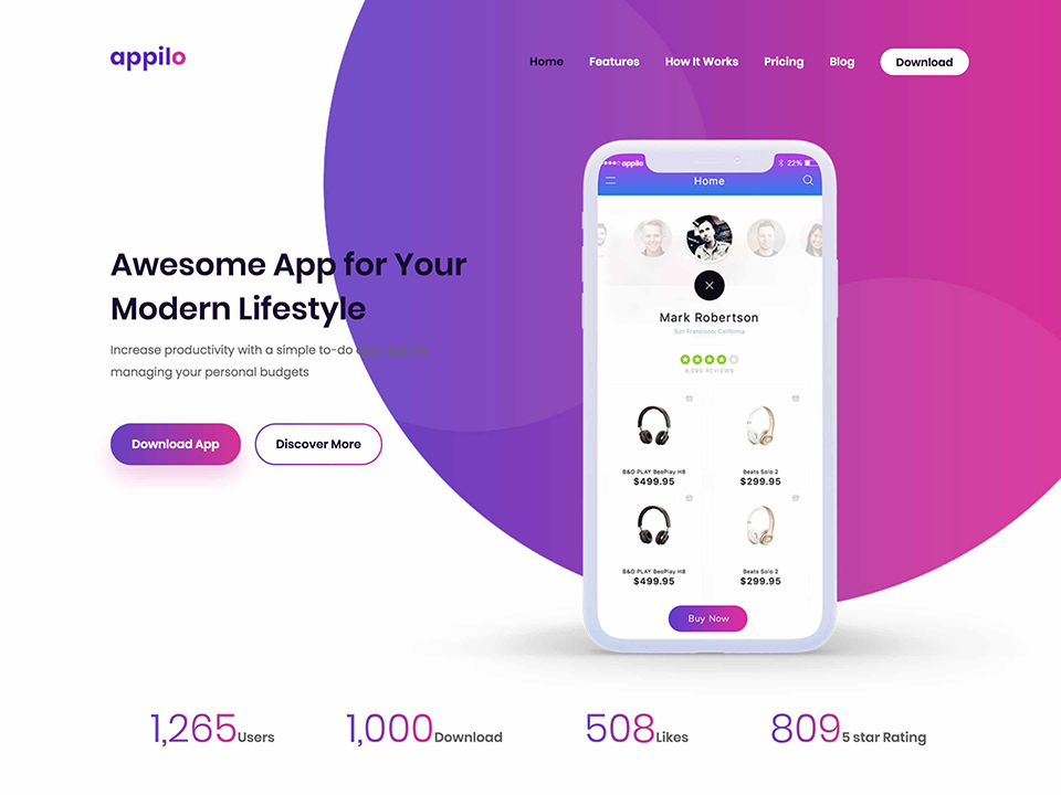 Appilo, Landing Page and Squeeze Page Themes