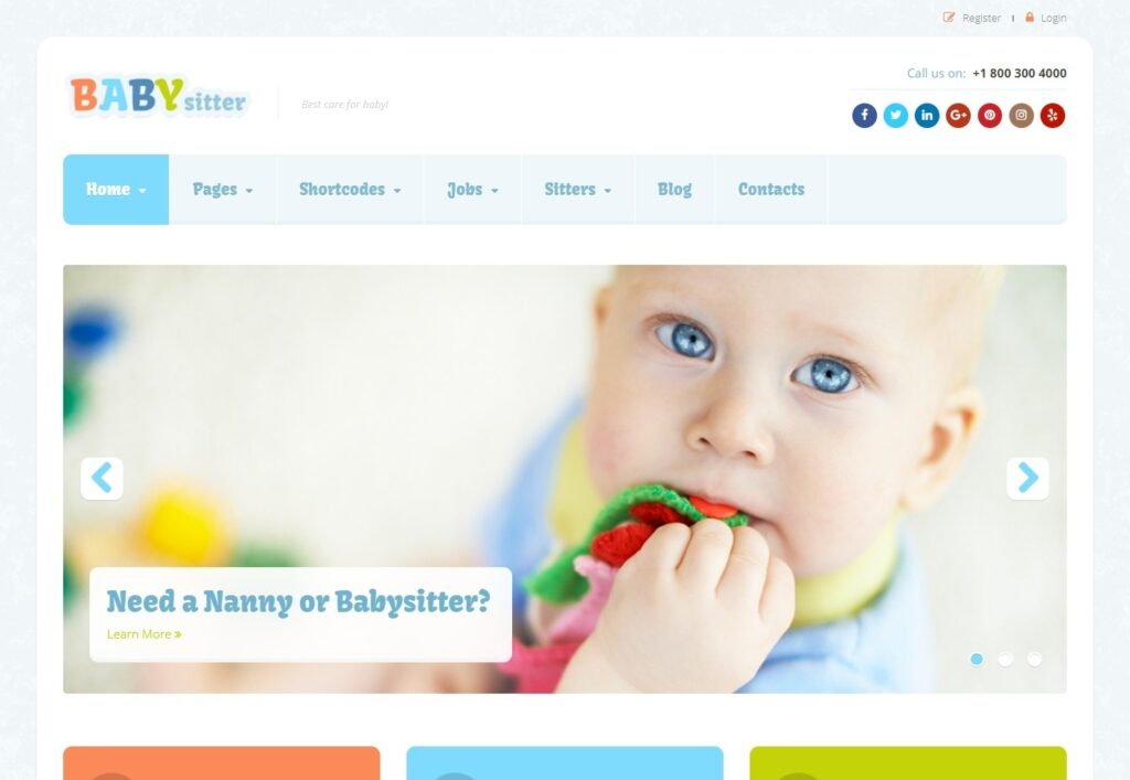 Baby Sitter WordPress Theme for Kids Daycare