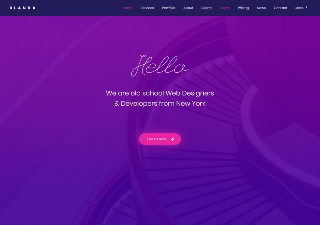 Blanka WordPress Theme for Creative Websites Using One Page