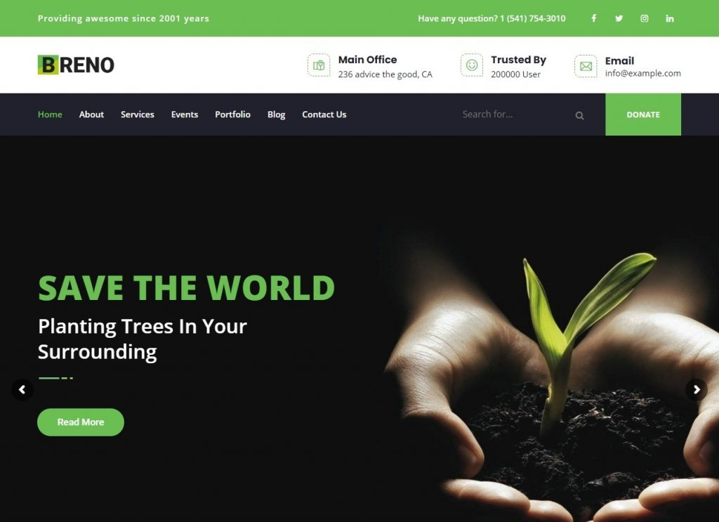 Breno Environmentally Friendly Solar Energy Theme