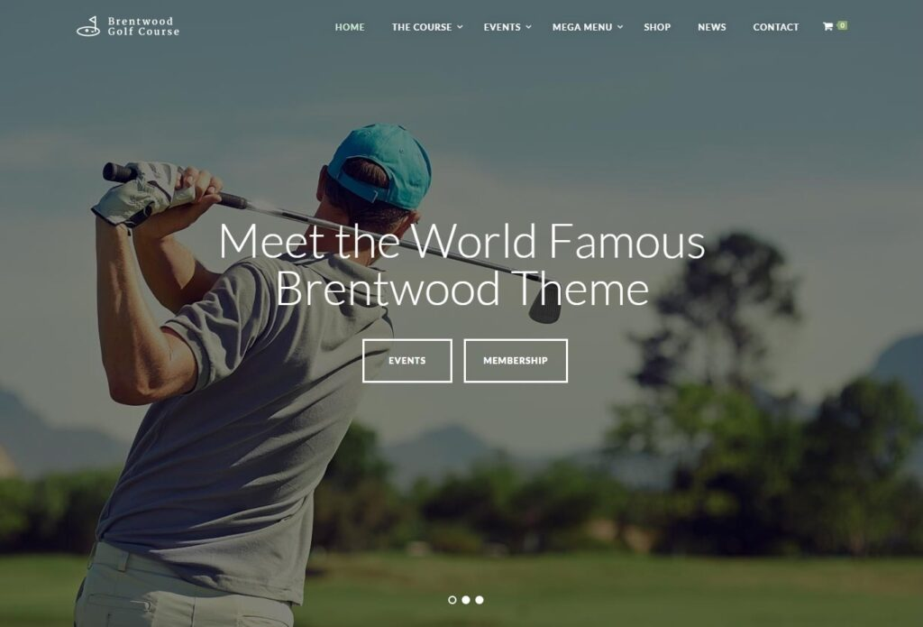 Brentwood, WordPress Theme for Golf Courses