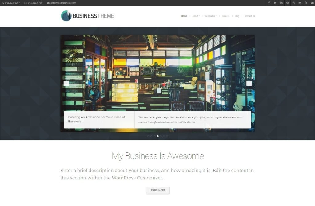 Business Dated Looking Startup Business Theme for WordPress