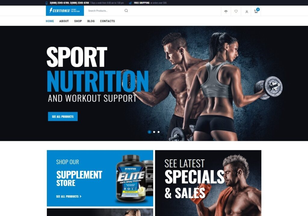 Certonix Sports WordPress Theme