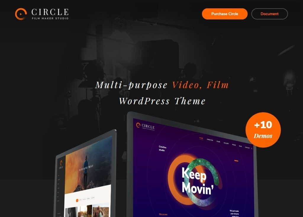Circle Filmmakers Portfolio WordPress Theme