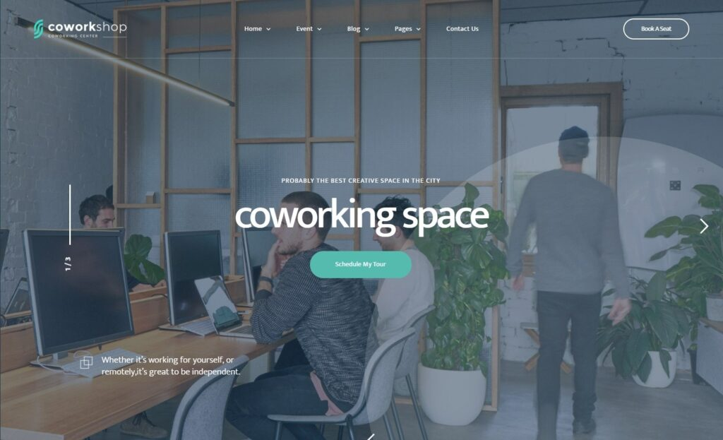 Coworkshop Theme for Shared Workspaces