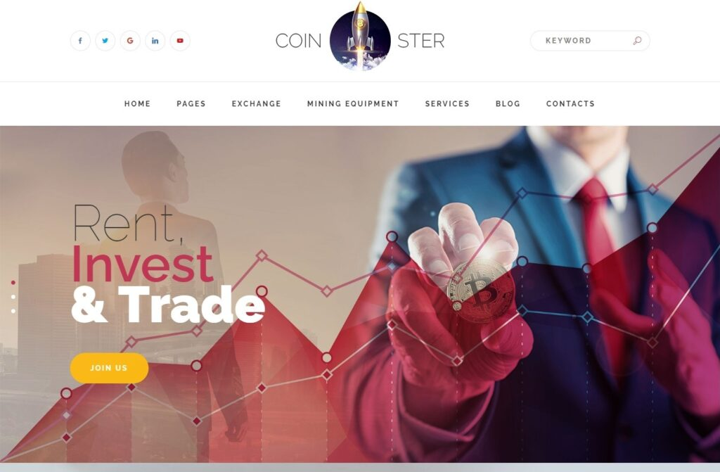 Coinster, Crypto and Mining Magazine Theme