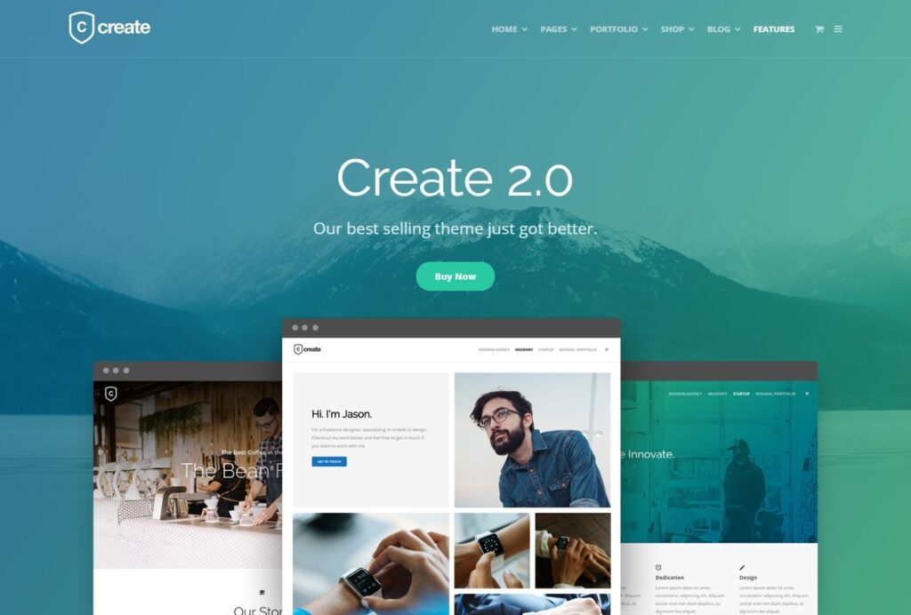 Create Startup Business Drag and Drop WordPress Theme