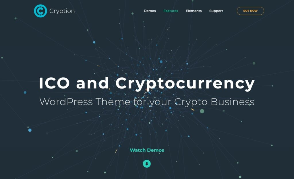 Cryption Cryptocurrency and ICO Theme