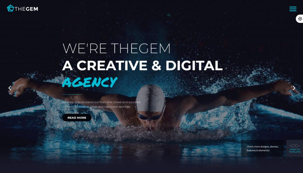 Digital Agency, One Page TheGem Creative High-Performance WordPress Theme