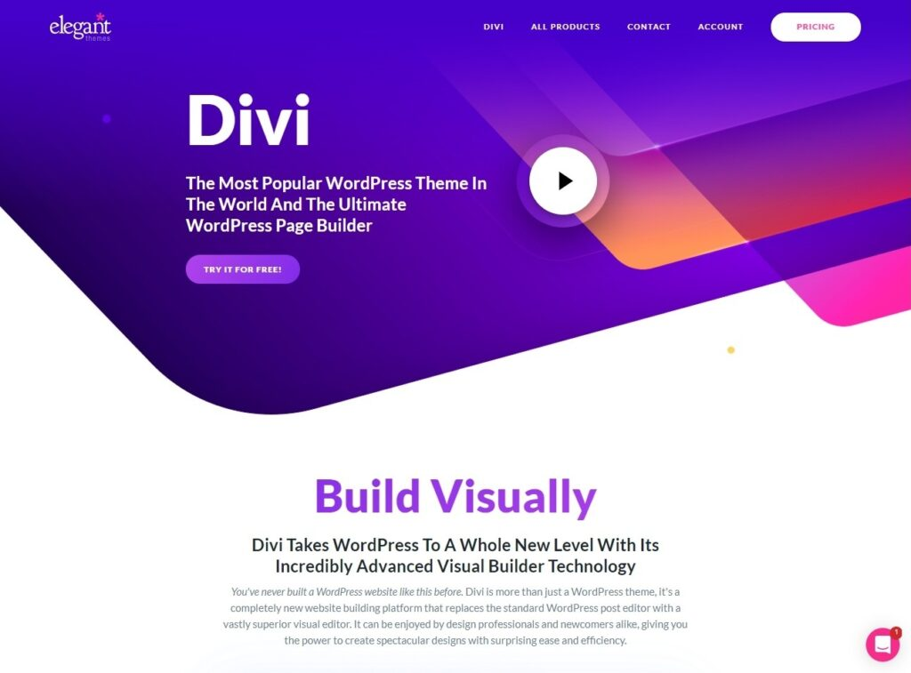Divi, Page Builder for Squeeze and Landing Pages
