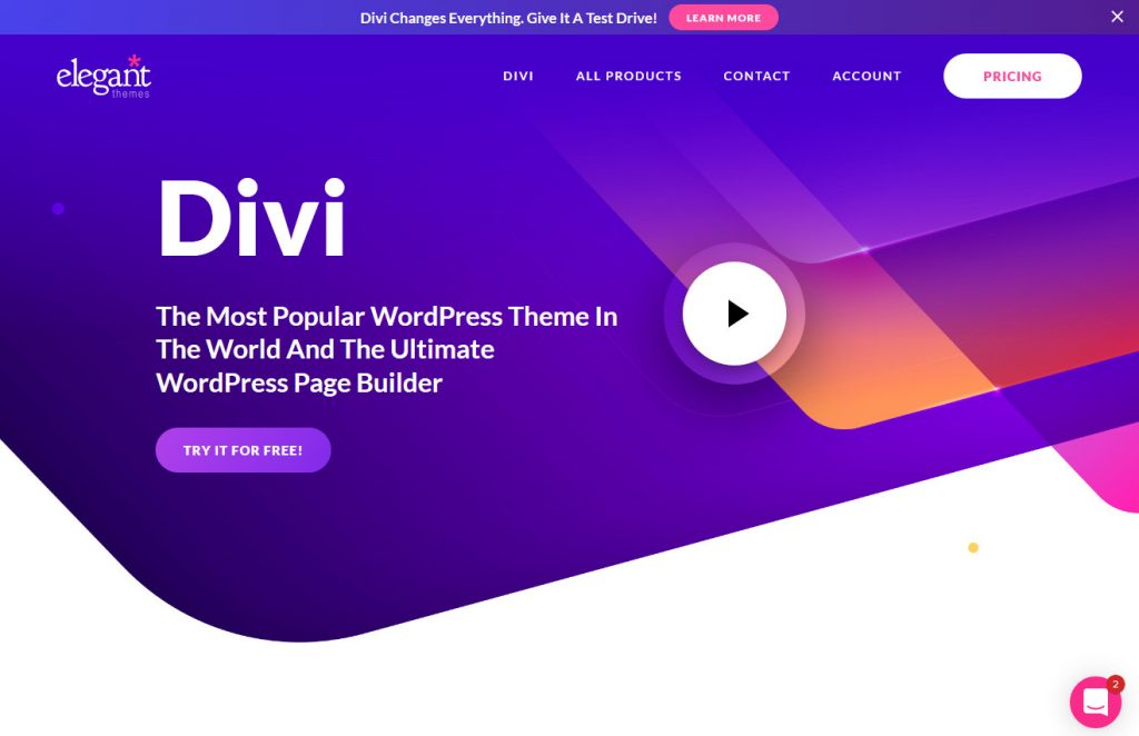 Divi Modern Powerful Page Builder WordPress Theme