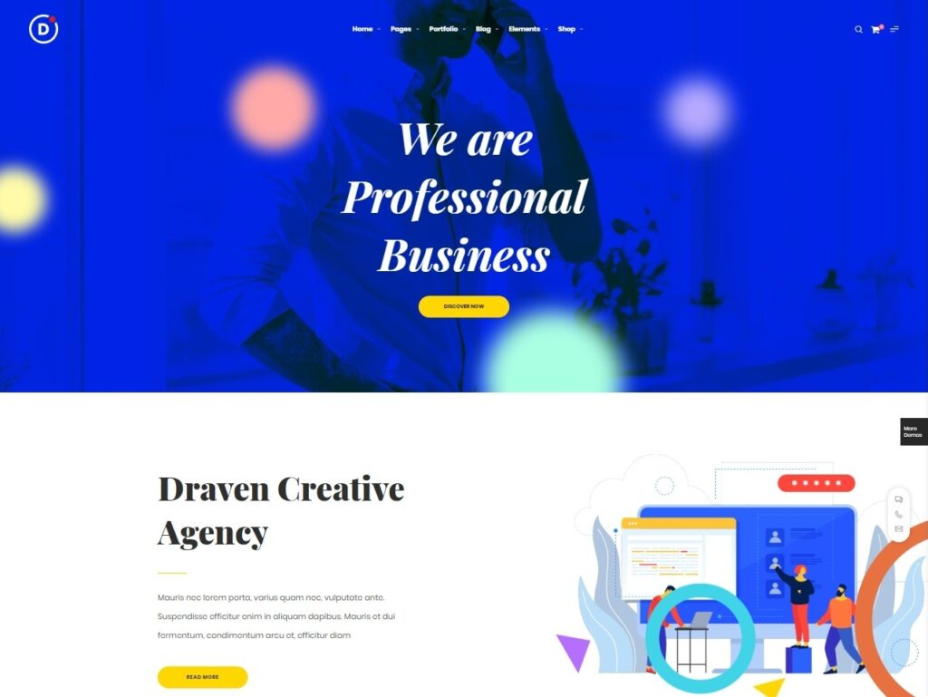 Draven Creative Multipurpose WordPress Elementor Theme