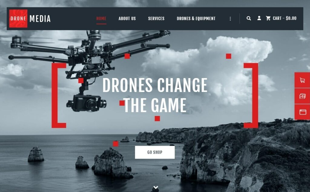 Drone Media eCommerce and Aerial Video WordPress Theme