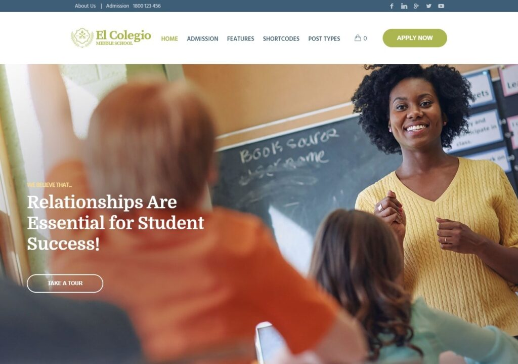 El Colegio Education and Learning Management System WordPress Theme