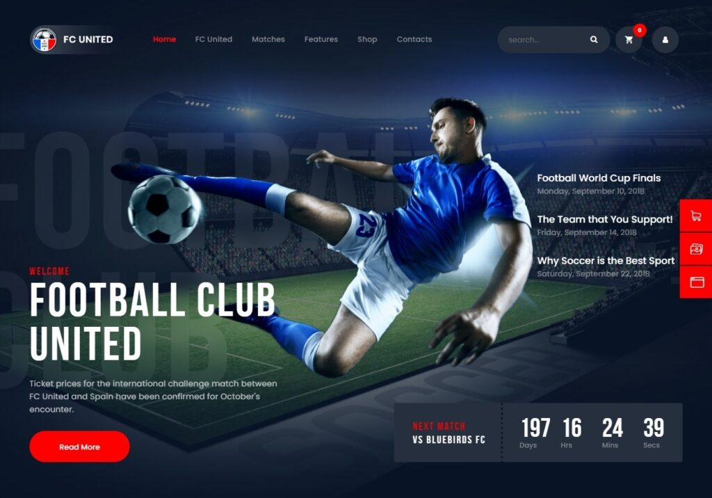 FC United Sporting Club WordPress Theme