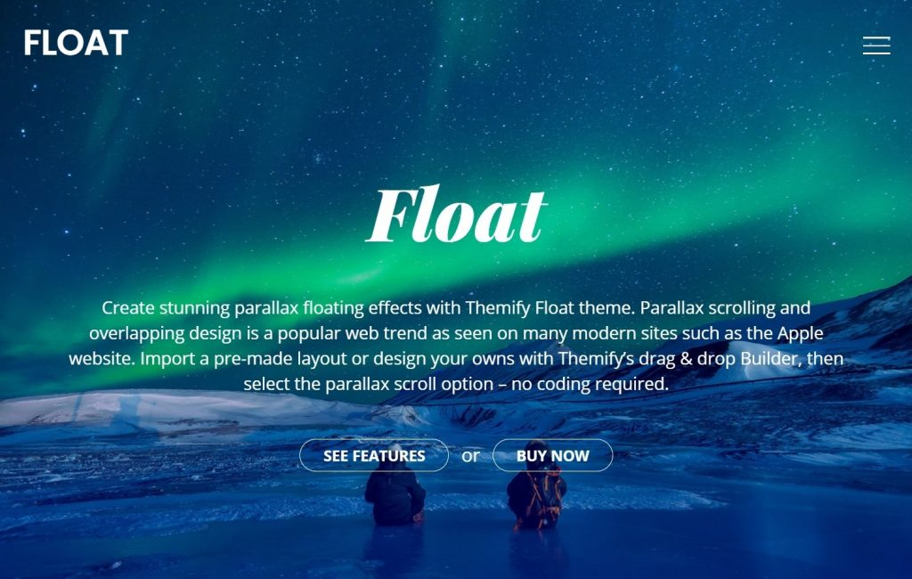 Float One Page Premium WordPress Theme