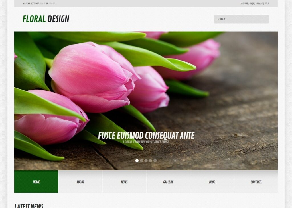 Floral Design WordPress Theme for Simple Flower Shops