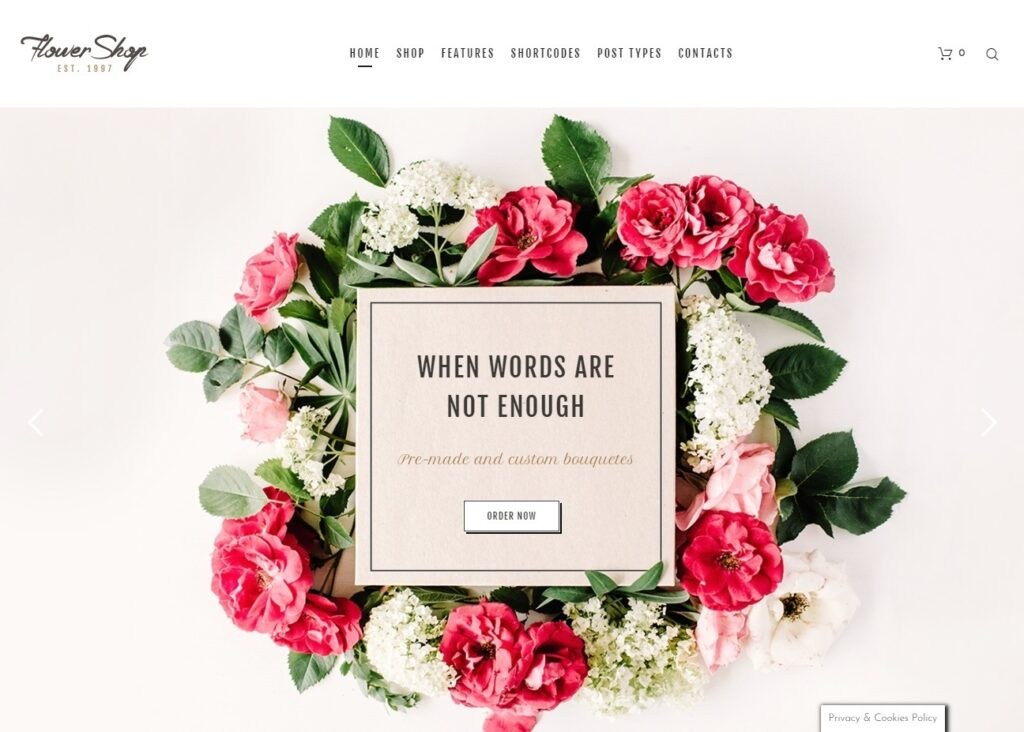 Flower Shop WordPress eCommerce Flower Shop