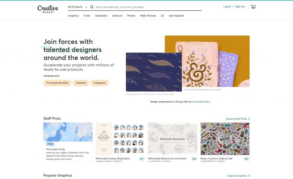 Fonts, Graphics, Themes and More _ Creative Market