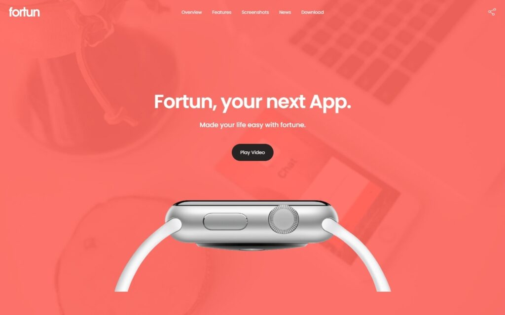Fortun WordPress Theme for Application Squeeze Pages