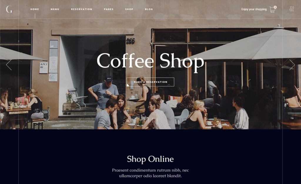 Gaspard WordPress Coffee Shop Elementor Themes