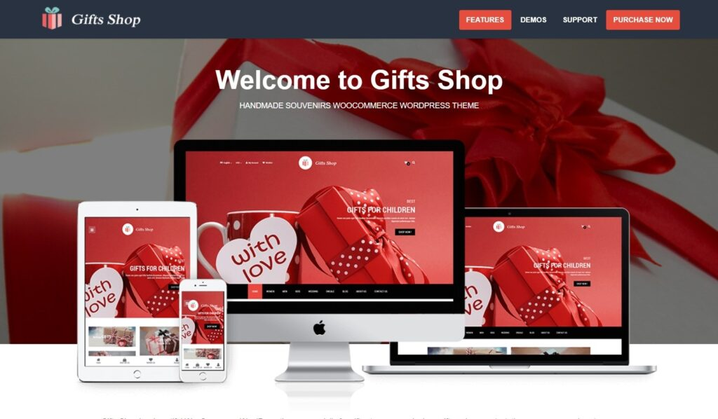 Gifts, WordPress Lookbook and Shop Theme