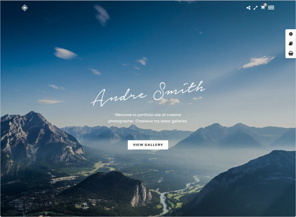 Grand Portfolio Clean Simple Elegant Photo Portfolio Theme