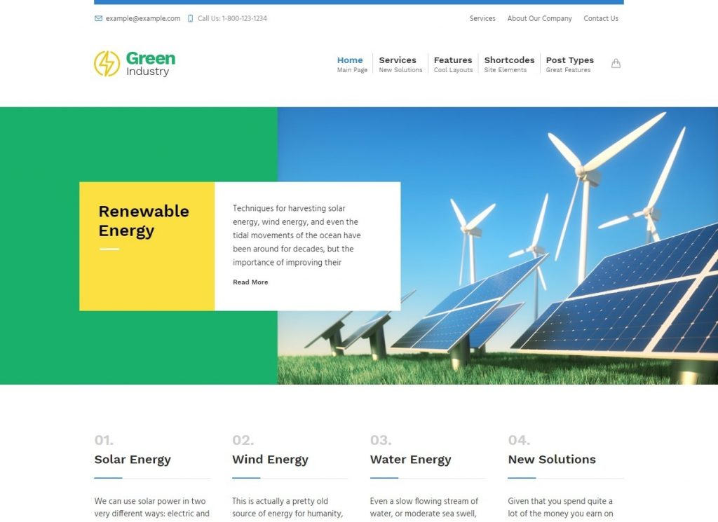 Green Industry Renewable Energy Ecology Friendly Industrial