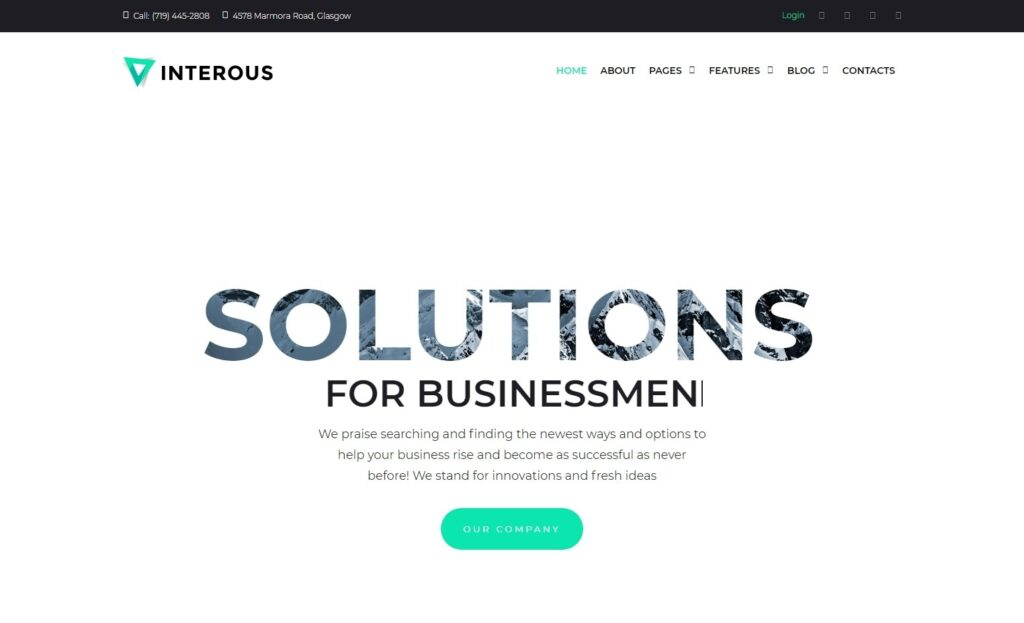Interous, WordPress Theme for Coworking Spaces
