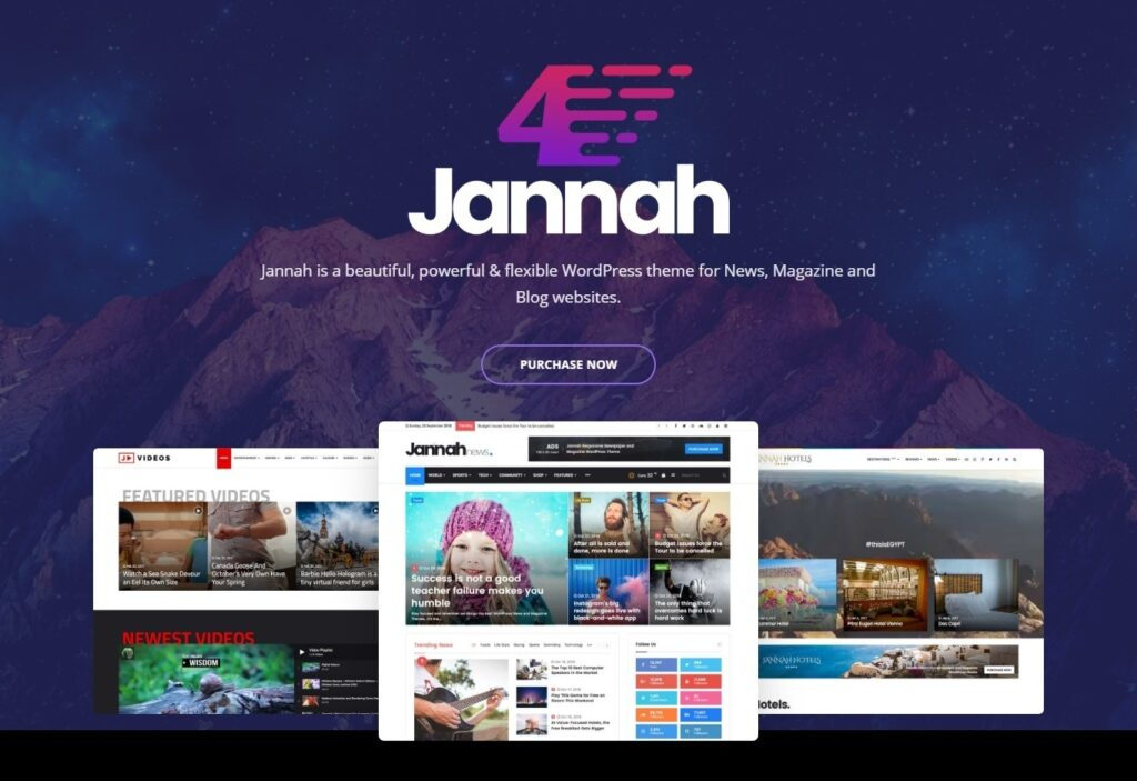 Jannah Powerful Multi Concept Elementor BuddyPress Theme
