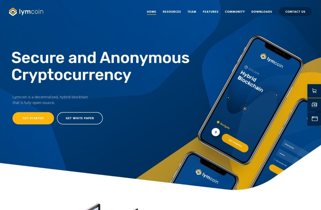 Lymcoin Theme for Cryptocurrency Websites