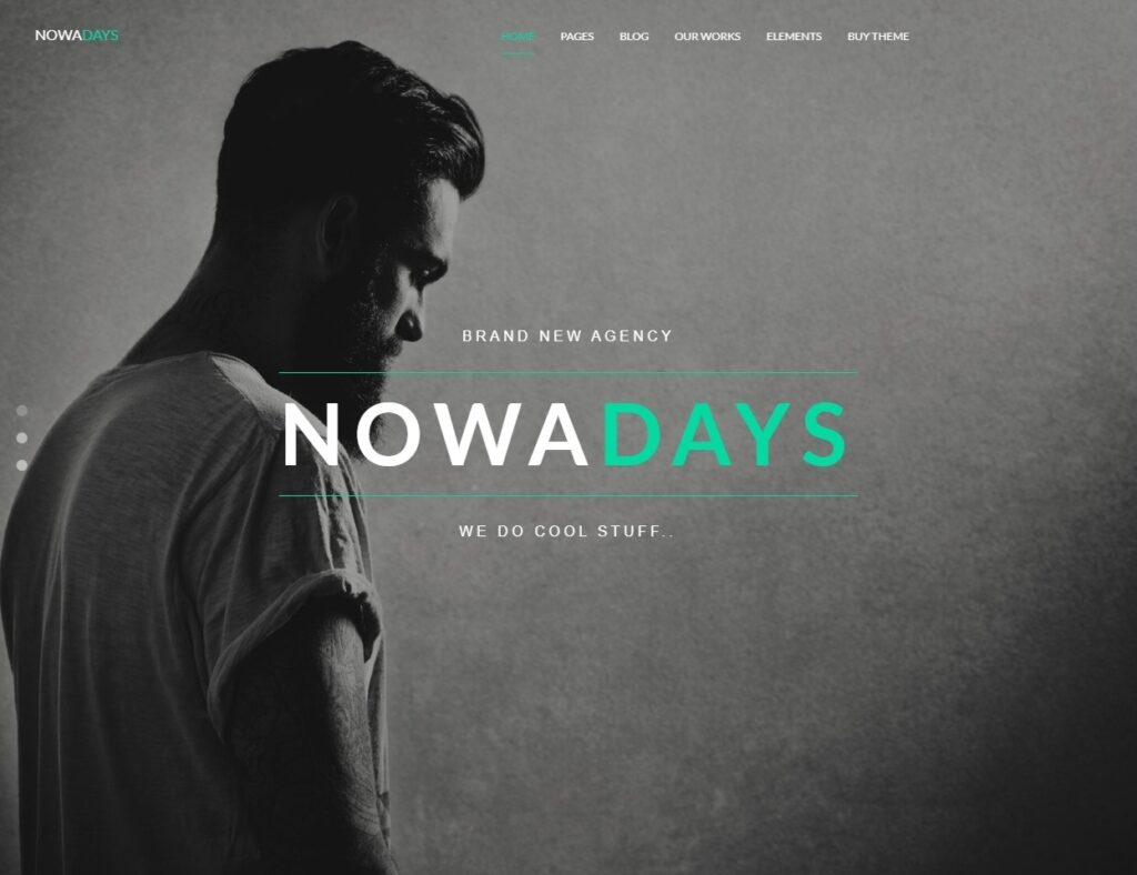 Nowadays Full Screen Parallax Slider Theme