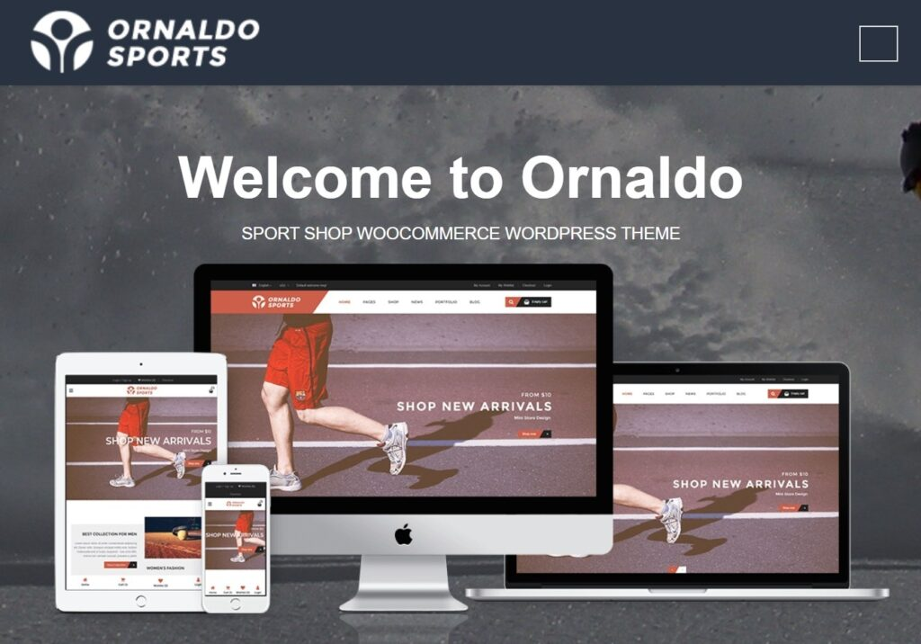 Orlando Sports WordPress Theme for WooCommerce Shops