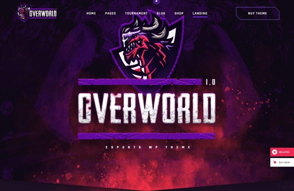 Overworld WordPress Theme for Gaming Websites