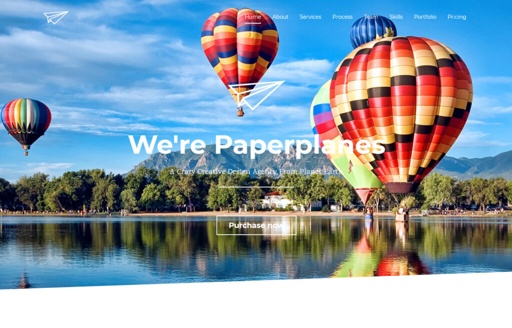 PaperPlane Flat Parallax WordPress Theme