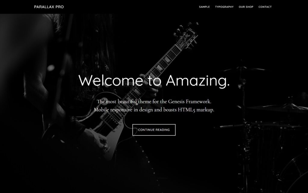 Parallax Pro A Mobile Responsive and HTML Theme for Coffee Houses