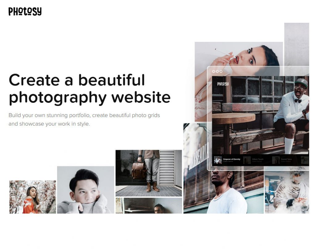 Photosy WordPress One Page Photography Themes