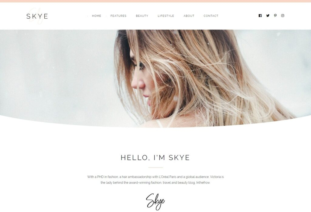 Rima WordPress Personal Blog Elementor Theme