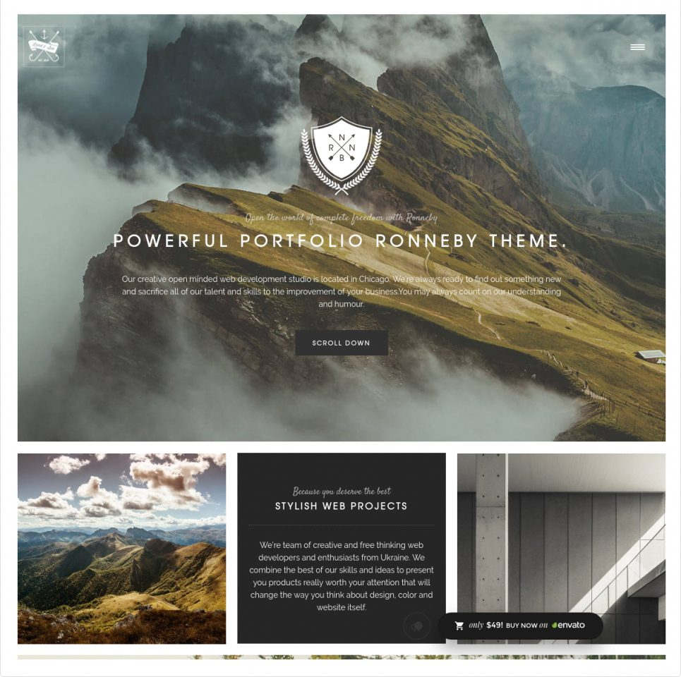 Ronneby Premium One Page Parallax WordPress Theme