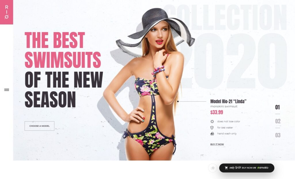 Ronneby eCommerce Theme with Strong Typography Driven Headlines