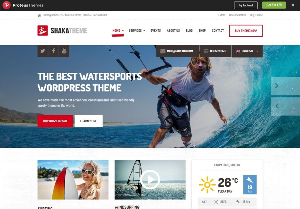 Shaka Premium Sports WordPress Theme