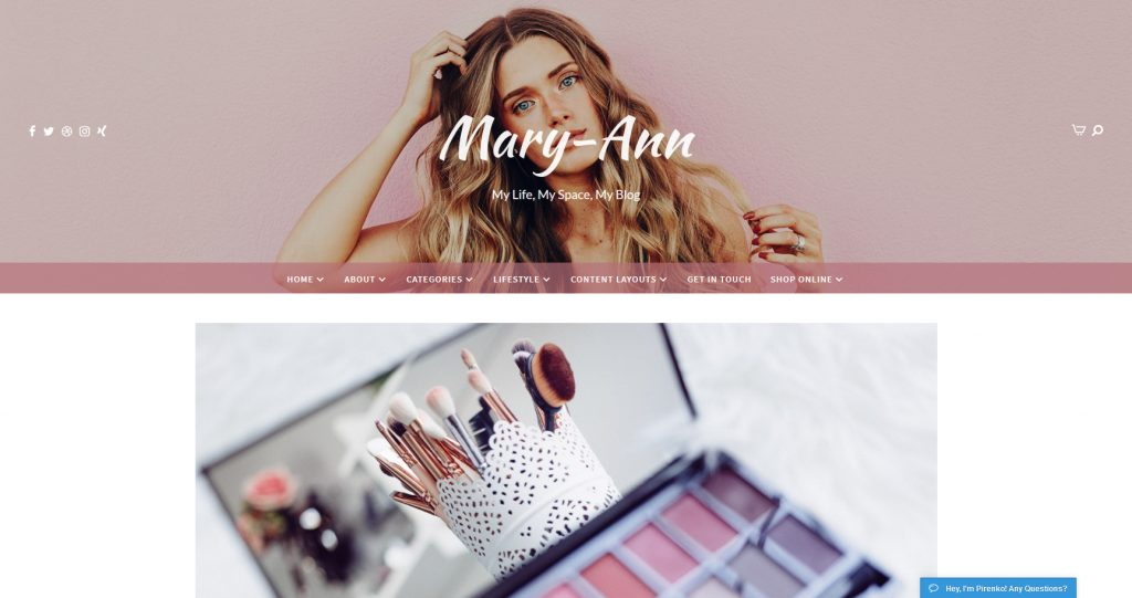 Shout WordPress Feminine Beauty Magazine