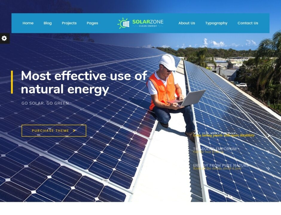Solar Energy WordPress Themes