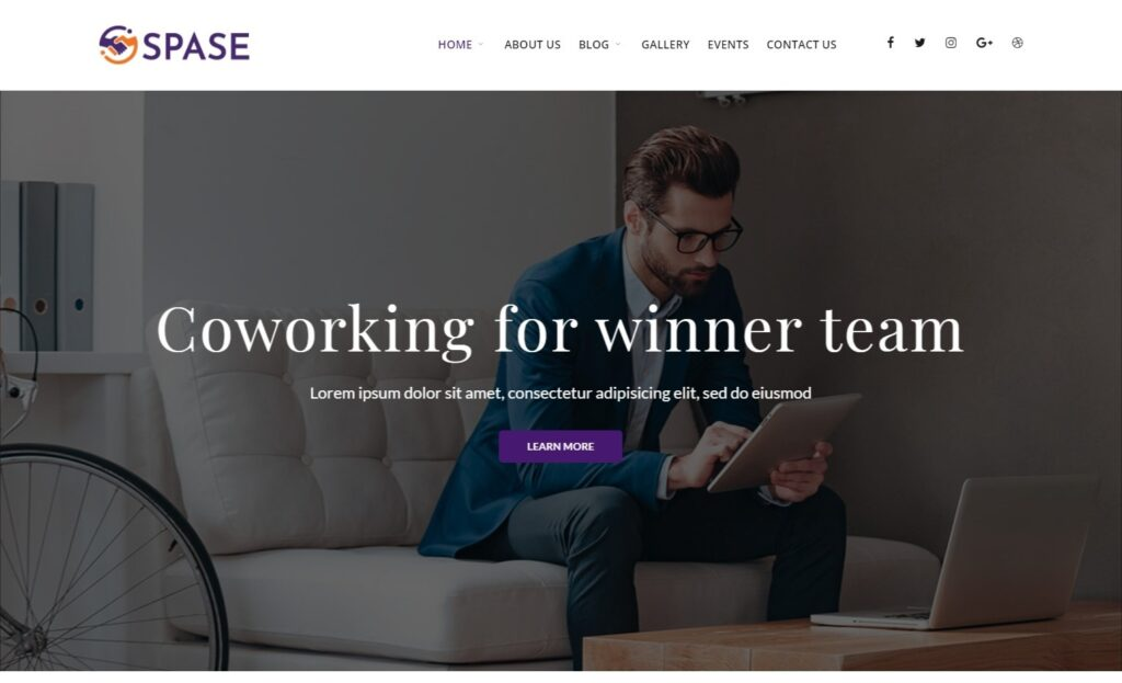 Space WordPress Theme for Shared Office Space
