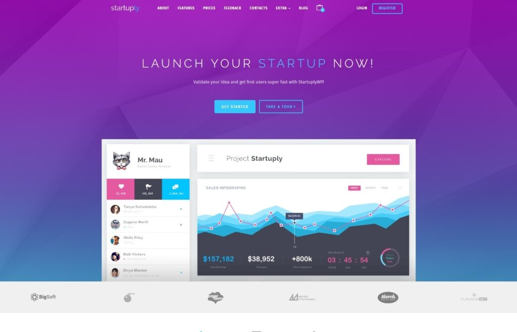 Startuply WordPress Theme for SaaS and App Startups