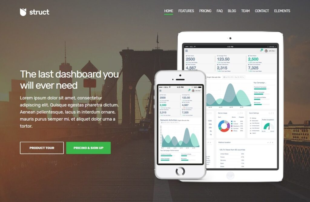 Struct Complete Solution for Applications and Landing Pages