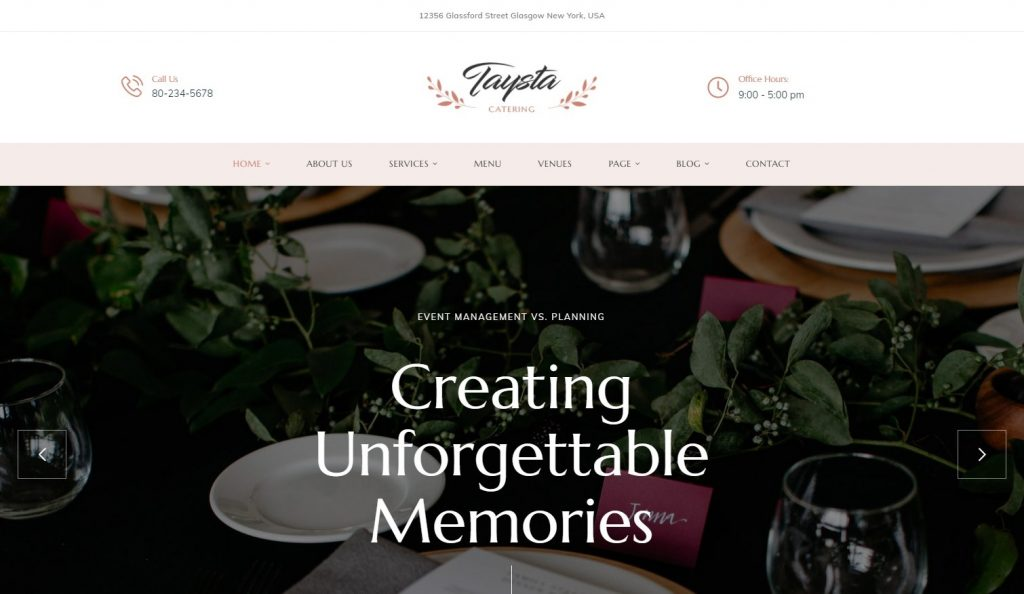 Taysta - Wedding Event Planning WordPress Theme Preview - ThemeForest