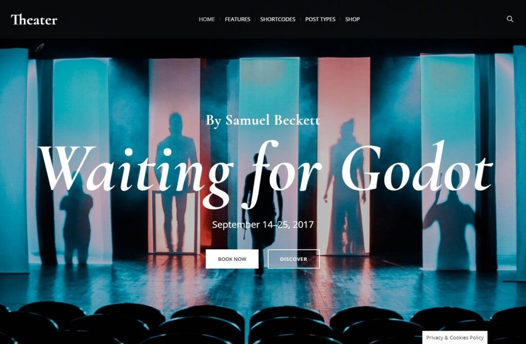 Theater, WordPress Theme for the Performing Arts